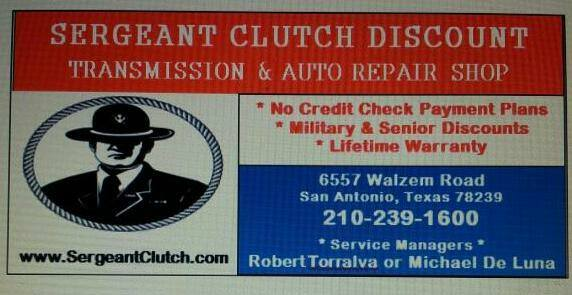 Sergeant Clutch Discount Transmission & Auto Repair Shop in San Antonio TX
